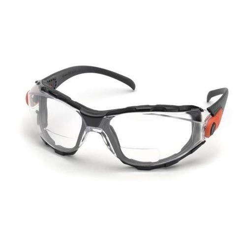 Elvex Go-Specs EVA Foam Lined RX Bifocals, Anti-Fog, PC LENS, Splash, Impact Spectacle/Goggle +2.5 Diopters, Clear by - Lens Rx Spectacle