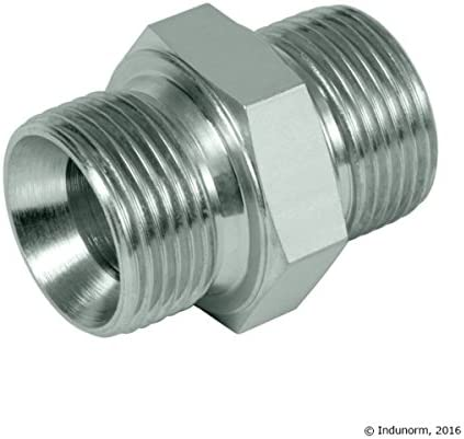 Hydraulic coupling 3//8/inches straight connector