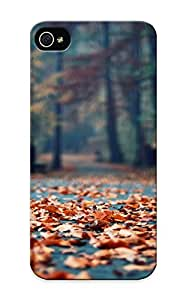 Flexible Tpu Back Case Cover For Iphone 5/5s - Autumn Foliage In The Park
