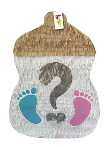 APINATA4U Gender Reveal Baby Bottle Pinata with -