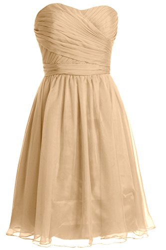 Short Champagne Macloth Dress Party Bridesmaid Women Gown Strapless Cocktail Wedding qSRa4E