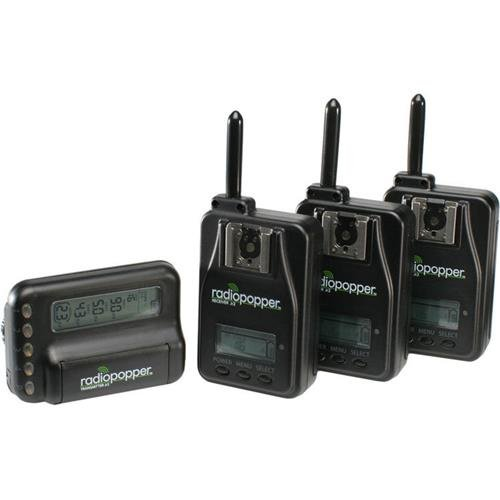 RadioPopper Jr2 Studio Set III for Nikon Camera, Includes Transmitter and 3x Receiver, 902-928MHz by RadioPopper