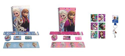 Disney Frozen Princess Anna and Queen Elsa Stationary Set + Stickers and ()