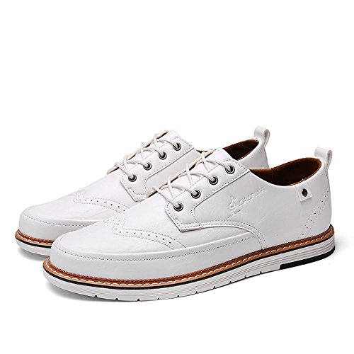 B Traspirante da Scarpe Lace uomo Black Pure Pure Pure Casual Grey leggero Brown formale up Business PU Scarpe lavoro Shoe XUE Estate Business Primavera Bianco SqA8W5w