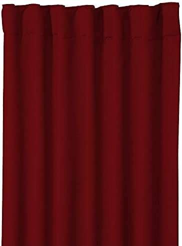 PRIM Room Darkening Thermal Insulated Blackout Solid Blackout Curtain Panels/Drapes Back Tab/Rod Pocket Curtains Burgundy