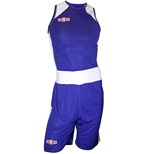 (Ringside #7 Elite Outfit, Blue/White, Youth Medium)