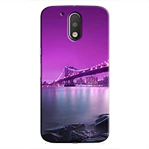 Cover It Up - Bridge-Purple Moto G4/G4 Plus Hard Case