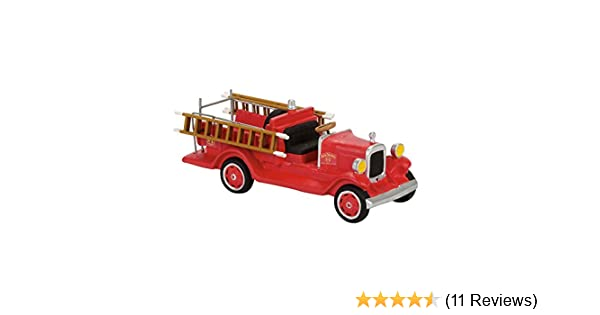 Multicolor Department 56 Jack Daniels Old #7 Fire Brigade Truck Figurine Village Accessory