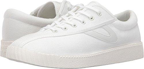 Tretorn Women's Nylite Plus Sneakers, White/White/White, 4.5 M US