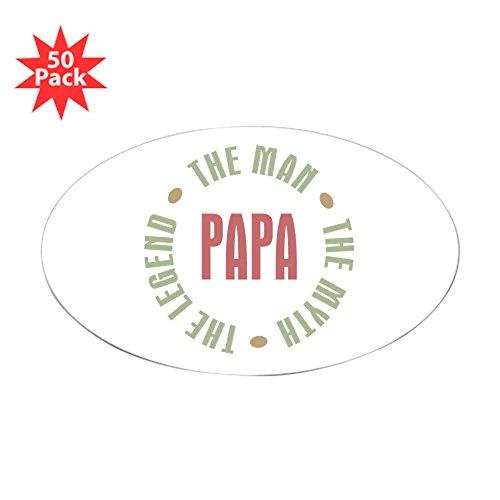 CafePress - Papa Man Myth Legend Oval Sticker (50 Pk) - Sticker (Oval 50 pk)