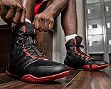 Title Boxing Total Balance Boxing Shoe, Black/Red, 10