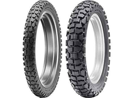 Dunlop D605 Dual Sport Motorcycle Tires Multiple Sizes Combo Set Front & Rear (1 Front 2.75-21/1 Rear 120/80-18)