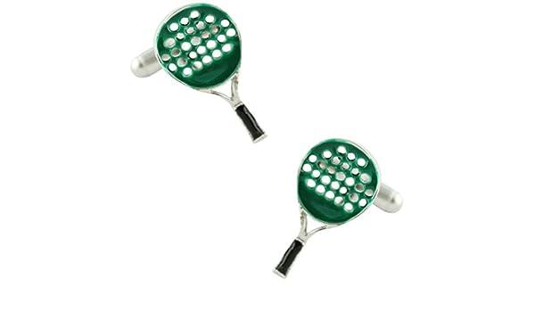 MasGemelos - Gemelos Raqueta de Padel Verde Cufflinks: Amazon.es ...