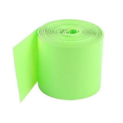 eDealMax 10M 50mm Luz Verde del PVC del encogimiento del calor de la cubierta del tubo