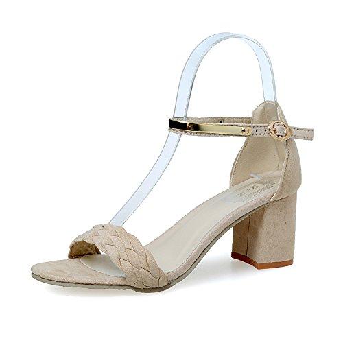 Sandalias 1 Cuadrado Verano Tacones Cómodos JUWOJIA beige Informales Tacón Toe Open Cuadrados De Zapatos Mujeres Sandalias Mujer 5AIZwS