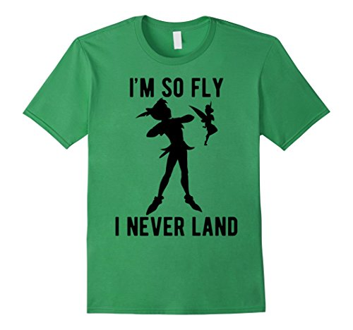 Mens Disney Peter Pan Tinker Bell I'm So Fly I Never Land T-Shirt Small (Male Peter Pan)