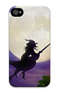 For LG G2 Case Cover girly Witch On Broom Full Moon Halloween 3D Case for For LG G2 Case Cover
