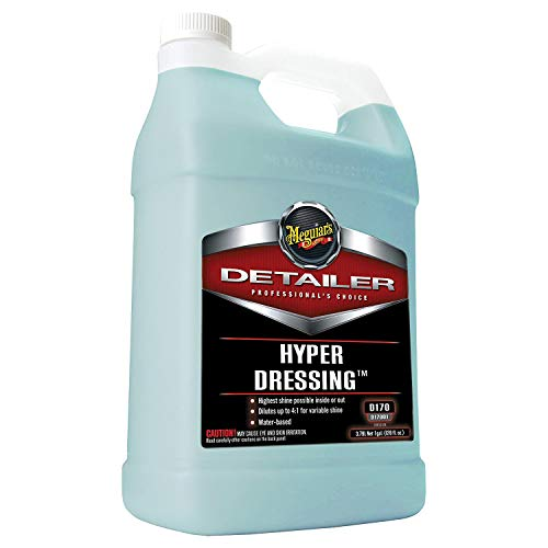 Meguiar's D17001 Hyper Dressing - 1 Gallon - Give Your Car's Trim Pieces the Best Shine & Gloss