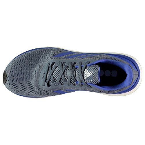 Adidas–Scarpe da corsa da uomo blu/bianco jogging ginnastica