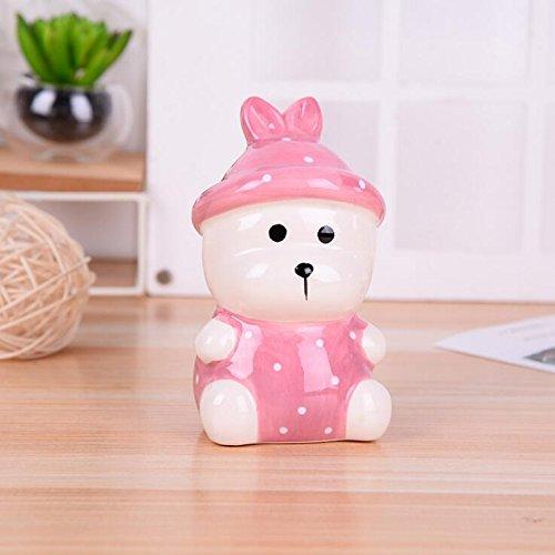 Goodscene Cartoon Piggy Bank Rabbit Piggy Bank Common Ceramic Decoration Festival Gift (Pink) by Goodscene