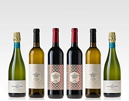 Carlota Suria Organic Classic - Caja Mixta de Vinos y Cavas Ecológicos Pago de Tharsys - Pack 6 botellas x 750ml