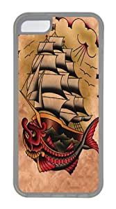 Ahoy TPU Silicone Case Cover for iPhone 5C Transparent