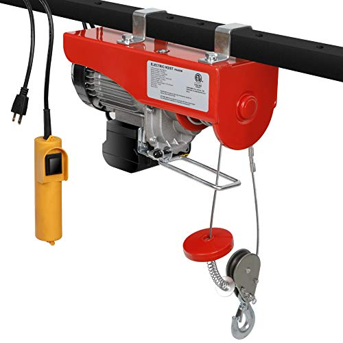 Gator Garage - F2C 440 / 880LBS Overhead Lift Electric Hoist Crane Industrial Commercial Chain Winch Wire Cable Hoist Garage Auto Shop W/Remote Control(880LBS)