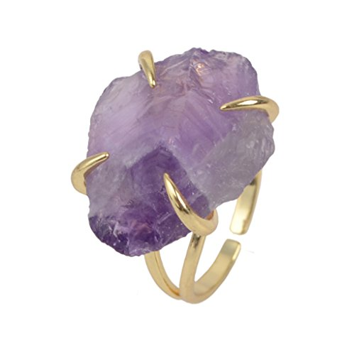 Natural Amethyst Gemstone Ring - 1