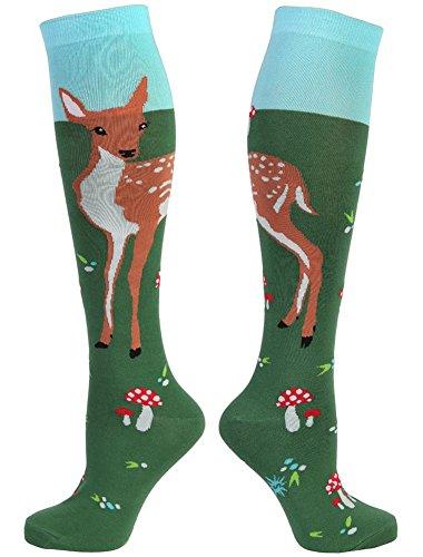 Deer Socks (Sock It To Me Fawn Memories Womens Knee High Tube Socks,One Size Fits Most,Multi)