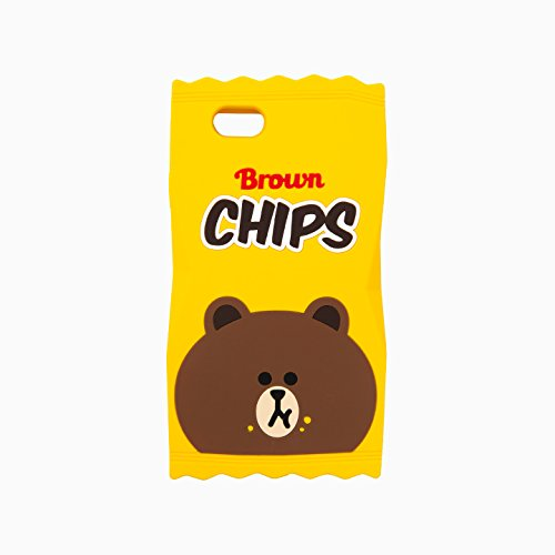 Line Friends Brown Chips Silicon Jelly Case For Iphone 6 6s