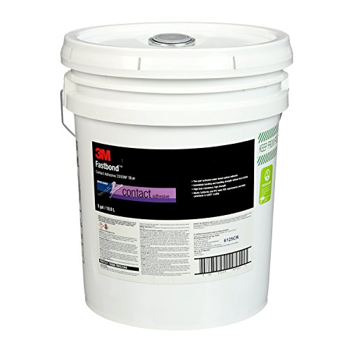 3M 87965-case Fastbond Contact Adhesive 2000NF Blue, poly pail Pour Spout, 1 per case Drum, 5 (Fastbond Contact Adhesive)