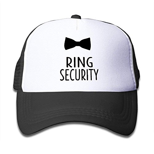NVJUI JUFOPL Ring Security Bow Child Mesh Baseball Hat Cap Black]()