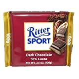 Ritter Sport Dark Chocolate Bar (Pack of 12)
