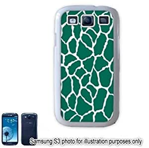 Green Giraffe Animal Print Pattern Samsung Galaxy S3 i9300 Case Cover Skin White