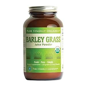 Pure Synergy USDA Organic Barley Grass Juice Powder (5.3 oz) USA Grown, Non-GMO