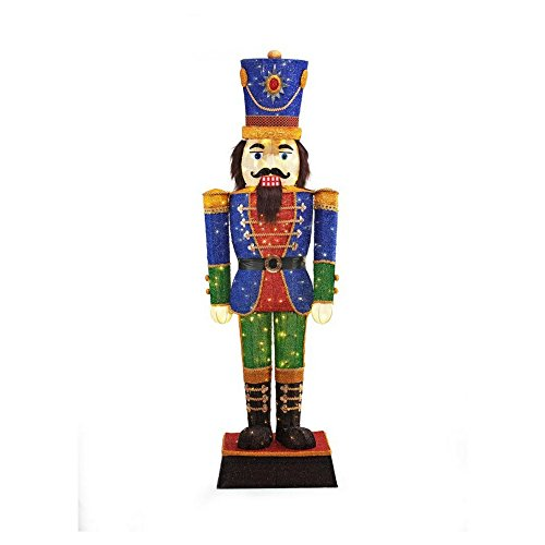 Home Accents Holiday 72 in. LED Tinsel Nutcracker and 5 ft. Pre-Lit Tinsel Nutcracker Soldier by Home Accents Holiday (Image #1)