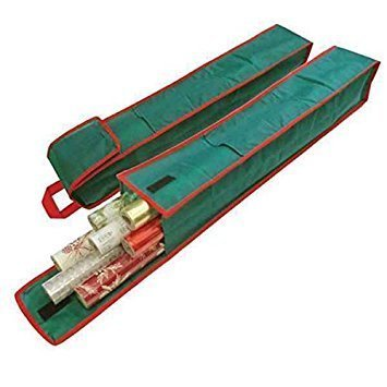 Bolsa para guardar los rollos del papel de regalo, 2 unidades, con práctica asa de transporte (ideal para Pascua) Animada