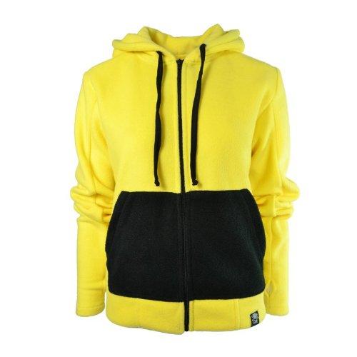 Pokemon Cupcake Cult Ears with Yellow Yellow Fleece Hoodie Jacket O5PxwSpq5r