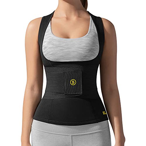 HOT SHAPERS Cami Hot with Waist Trainer Women s Slimming Body Shaper Vest Corset for Weight Loss, Trimming Tummy, Workouts, Saunas, and Hourglass Figure Stomach Shaping