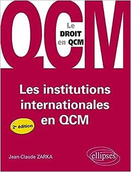 Book's Cover of Les Institutions Internationales en Qcm (Français) Broché – 4 octobre 2011
