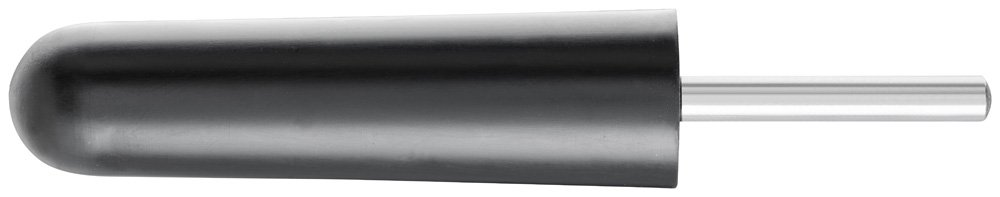 PFERD 42004 Policap Rubber Abrasive Cone Holder, Tapered Cylindrical Shape, 7/8'' Diameter x 3-3/8'' Length, 1/4'' Shank, 12000 Max RPM (Pack of 5)