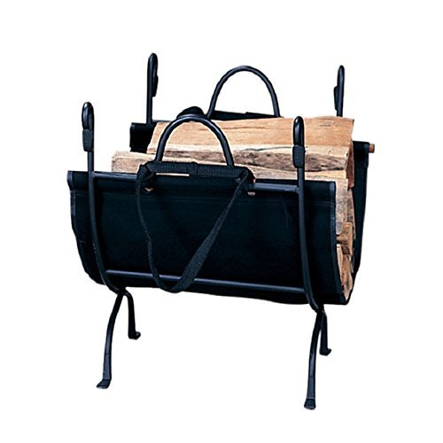 - Blue Rhino Black Cast Iron Deluxe Log Holder , Complement Your Working FirePlace.