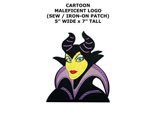 Maleficent Sleeping Beauty Cartoon DIY Embroidered Sew or Iron-on Applique Patch Outlander Gear (Diy Maleficent Costume)