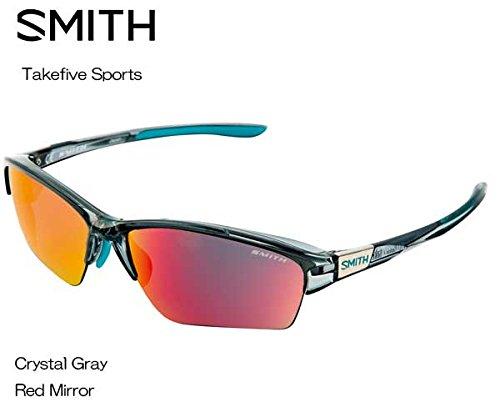 SMITH(スミス) Takefive Sports 【フレーム】CRYSTAL GRAY 【レンズ】RED MIRROR 203350454 サングラス   B073RYRYQZ