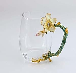 flower tea cup juice glass