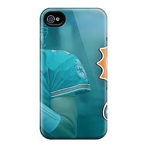 Iphone 6 DvC18367ocGy Custom Lifelike Miami Dolphins Skin Bumper Phone Case -RudyPugh