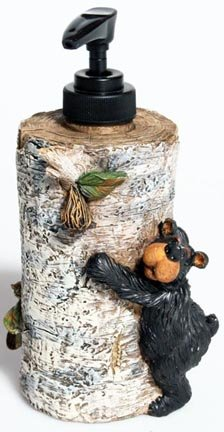 Willie Black Bear Liquid Soap Dispenser,