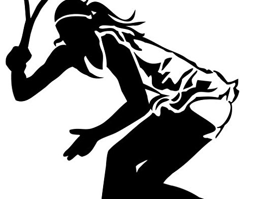 Wall Decal Tennis Player II, Color: Aubergine, 58.3x39.4 by PPS. Imaging GmbH (Image #1)