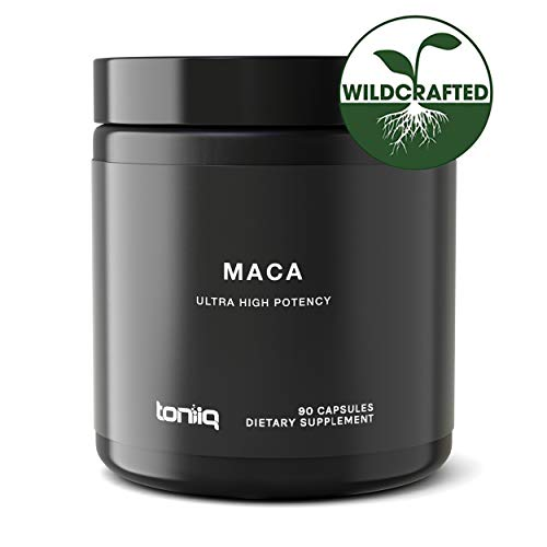 Single Origin Wildcrafted Maca Root Capsules - Ultra High Strength - 10,000mg 20x Concentrated Extract - The Strongest Peruvian Maca Root Powder Available - Gelatinized Black, Red and Yellow Complex (Fish Oil Pills And Vitamin E For Booty)