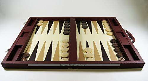 (Dal Negro Brown Case Backgammon Set )